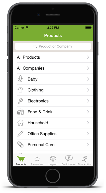 Shop Ethical! app for iPhone